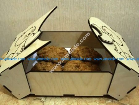 Laser Cut Cookies Box