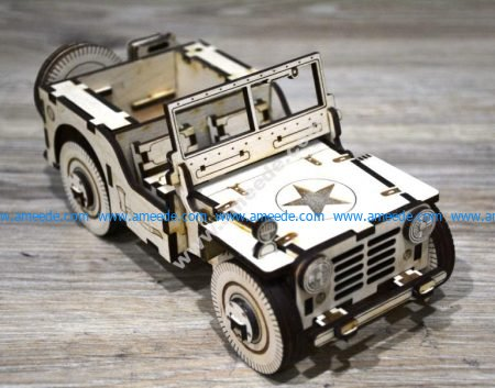 Laser Cut Jeep car