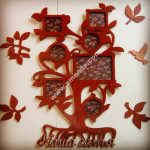 Model of laser cut photo wall picture frame