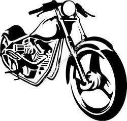 Motobike travel vector