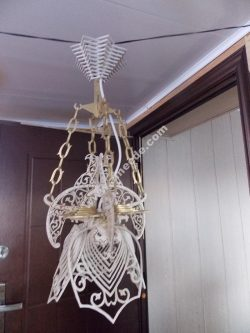 Sample laser cutting ceiling light for wood material