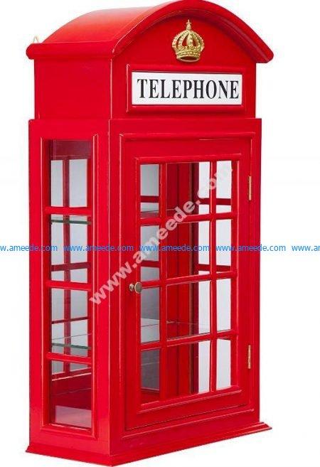 Tea Bags Holder London Phone Booth