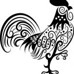 pattern baby rooster