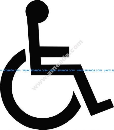 wheelchair person icon
