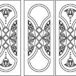 Arab style door pattern
