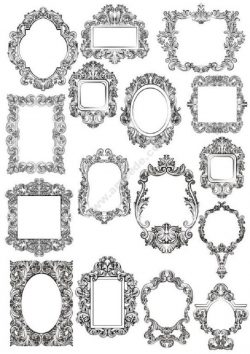 Baroque Floral Frames