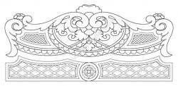 CNC cutting bed headboard design
