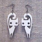 Cat Earrings Lase
