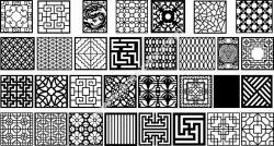 Decorative lattice for CNC machine