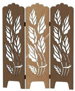 Decorative leaf screen panel