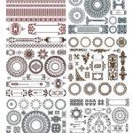 Doodles Border Decor Elements