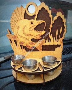 Fish shaped cup tray