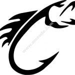 Fishing hook shaped icon
