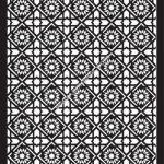 Floral Separator Pattern Template