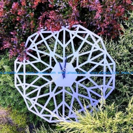 Geometric Clock CNC Template