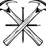 Hammered nail icon
