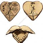Heart shaped box containing wedding anniversary