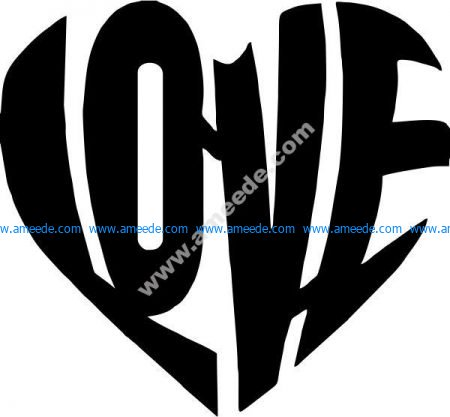 Heart shaped love symbol
