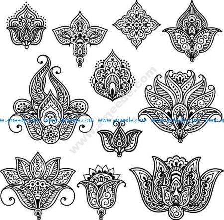 Henna Mehndi Tattoo Doodles