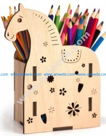Horse Desk Organizer Pencil Holder