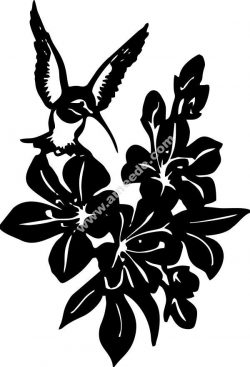Hummingbird and flower symbol
