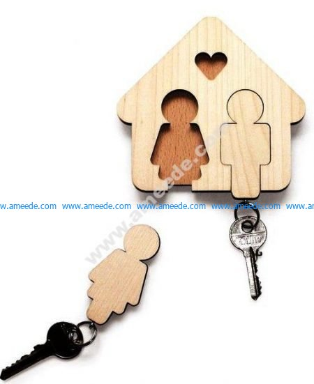 Key Hanger for Couple
