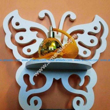 Laser Cut Butterfly Wall Shelf Rack