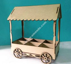 Laser Cut Candy Cart Template