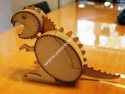 Laser Cut Wooden Box Dinosaur Template