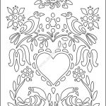 Love Illustration Floral Heart Flowers Birds