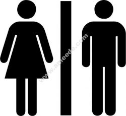 Male and female toilet icon