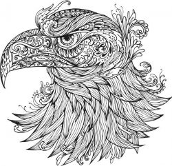 Ornamental Eagle Vector
