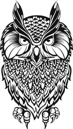 Owl Vector Black And White