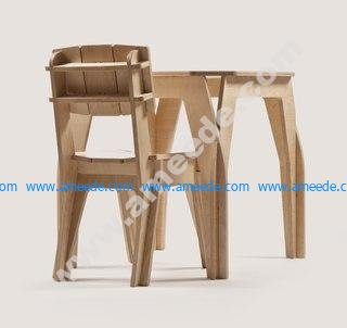 Simple and efficient assembly of tables and chairs