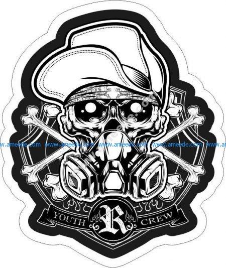 Skull Crew Sticker