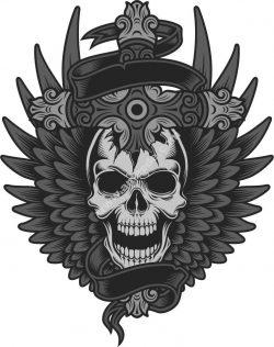Skull with Cross