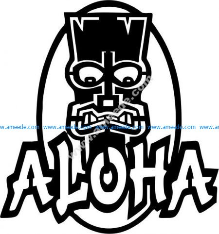 Symbol Aloha – Graphic Design Vector