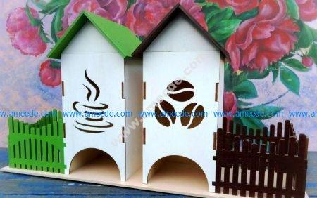 Tea Bag House Template