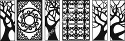 Tree style decorative lattice for cnc
