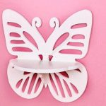 Wall Hanging Shelf Butterfly Rack Template