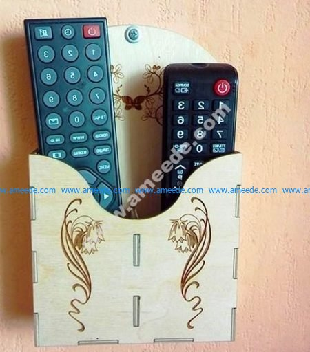 Wall Mounted Remote Control Holder