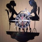 Wall clock girl shaped