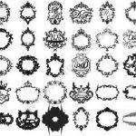 Wedding badges, monogrammed frames