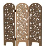 Wooden folding screen decor