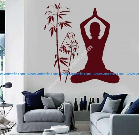 Yoga room at home