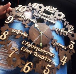 chrysanthemum tree clock