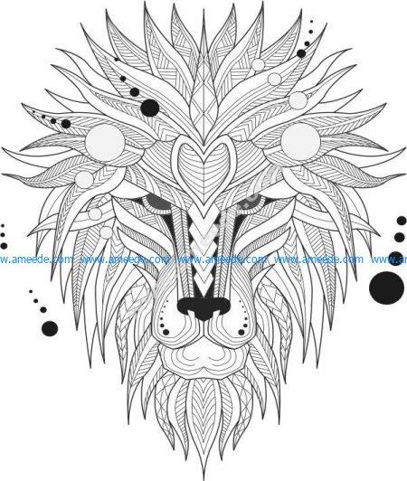 pattern of lion head