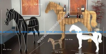 the horse shaped shelf