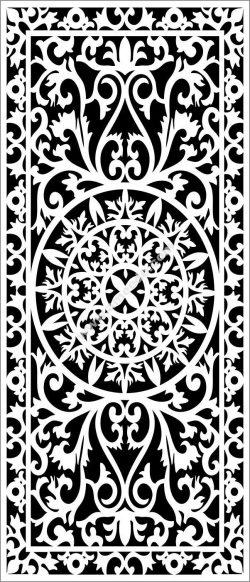 Arabic partition decoration pattern