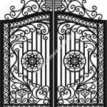 Beautiful iron gate model